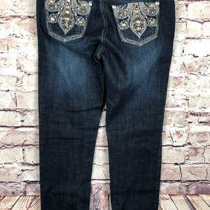 Grace Jeans - Grace jeans crop USA size 7 Jeweled pockets dark
